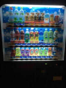 星の湯の自販機。コカ・コーラ社。